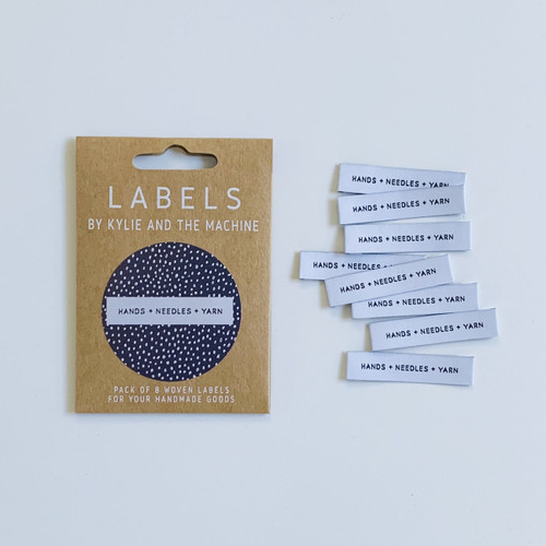 Woven Label - Hands + Needles + Yarn