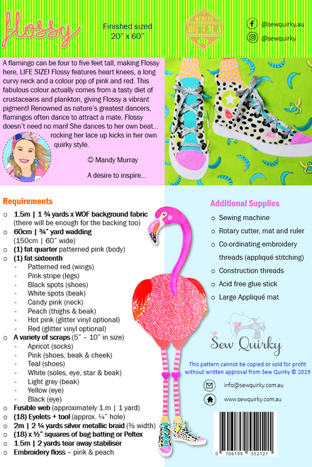 Flossy Flamingo Applique Pattern Book