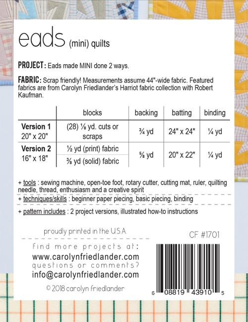 Eads Mini Quilt Pattern