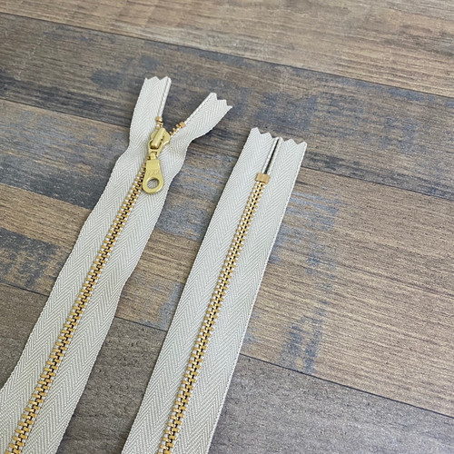YKK Donut Pull Zipper - Khaki (Gold)