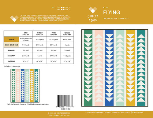 Flying Quilt Pattern