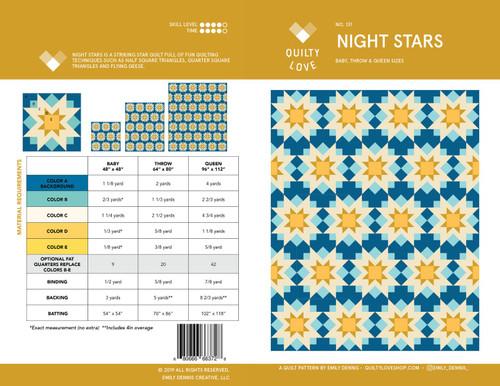 Night Stars Quilt Pattern