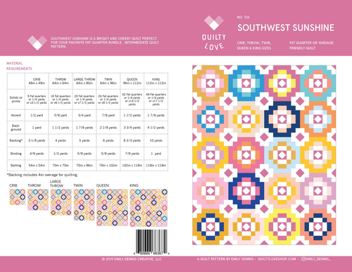 Southwest Sunshine Quilt Pattern