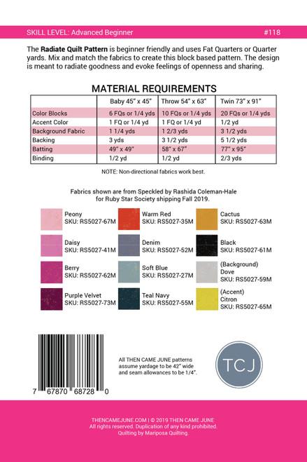 Radiate Quilt Pattern