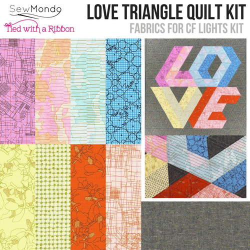 Love Triangle Mini Quilt Kit (CF Lights)