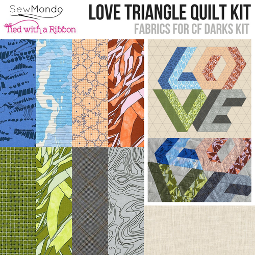 Love Triangle Mini Quilt Kit (CF Darks)