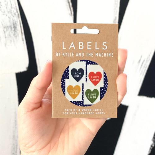 Woven Label - I Love Linen Multi