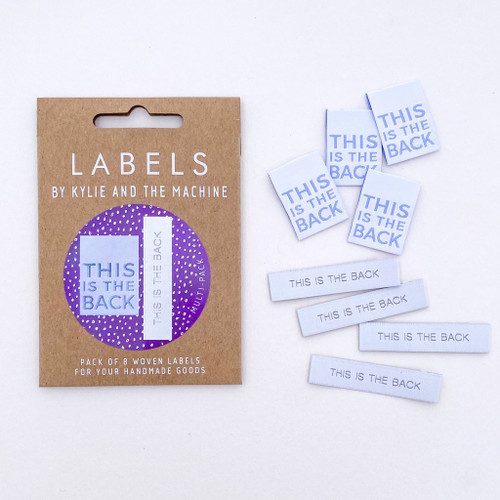 Woven Label - This Is The Back