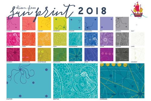 Sun Print 2018 - Depths - Aquamarine