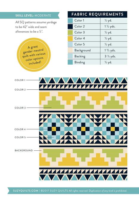 Mayan Mosaic Quilt Pattern (PDF)
