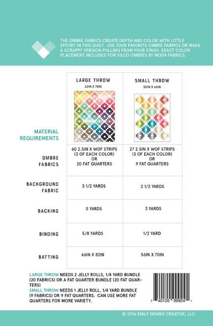 Ombré Gems Quilt Pattern