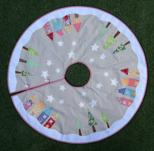 Yule Tide Christmas Tree Skirt Pattern