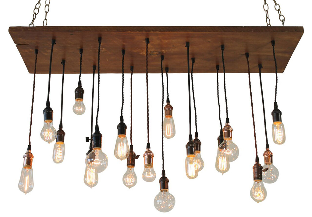 Reclaimed wood chandelier