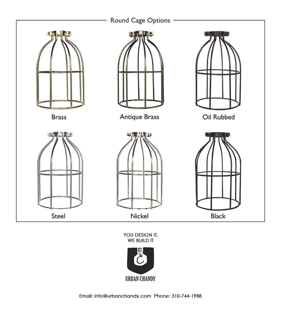 Round Cage Pendant Options