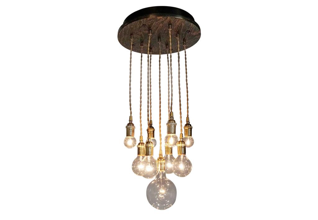 Gold Rush Tiered Chandelier - 9 Pendants