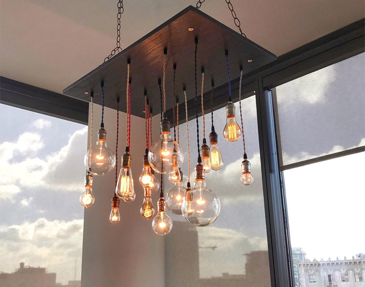 the latest 8df78 e7e85 Edison Bulb Multi Pendant Chandelier
