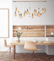 Whitewashed Rustic Wood Chandelier With 18 Pendants