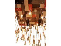 Mid-Century Mosaic Style Chandelier
