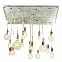 Cottage Style Pendant Chandelier With Antique Edison Bulbs