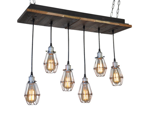 Cage Light Rustic Industrial Pendant Chandelier