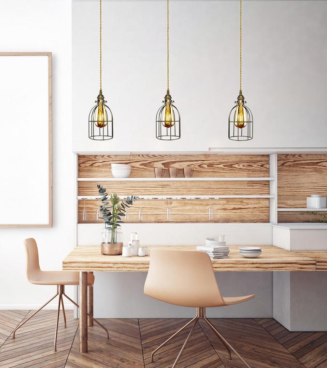 Custom Cage Pendant Lighting