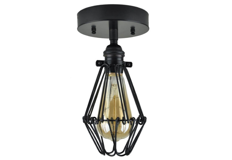 HENRY - Black Cage Light Sconce - UL Listed