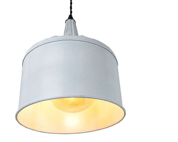 Large White Farmhouse Funnel Pendant Light