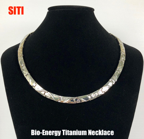 SITI - Silver Polish Titanium 20 Inch Necklace Magnets & Germanium