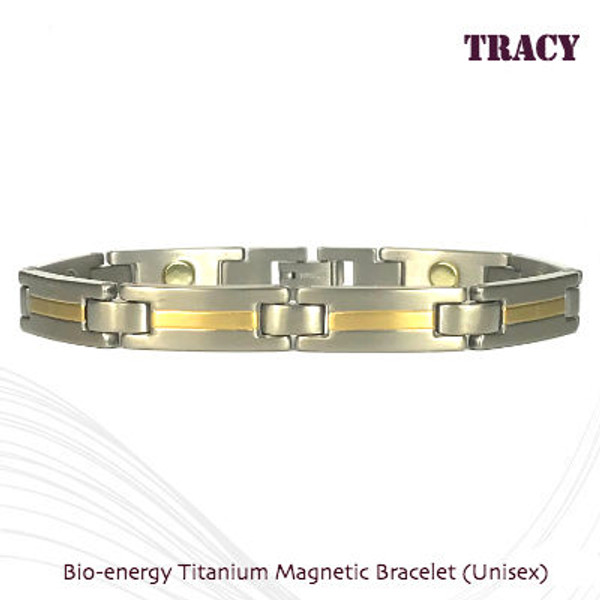 TRACY - 2 tone Gold & Silver Matt Finish with 8 x 2000 guass magnets