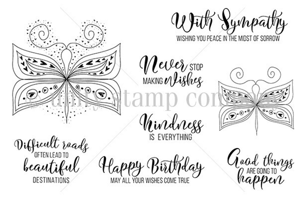 Good Things with Wings {january 2019 sentiment kit}