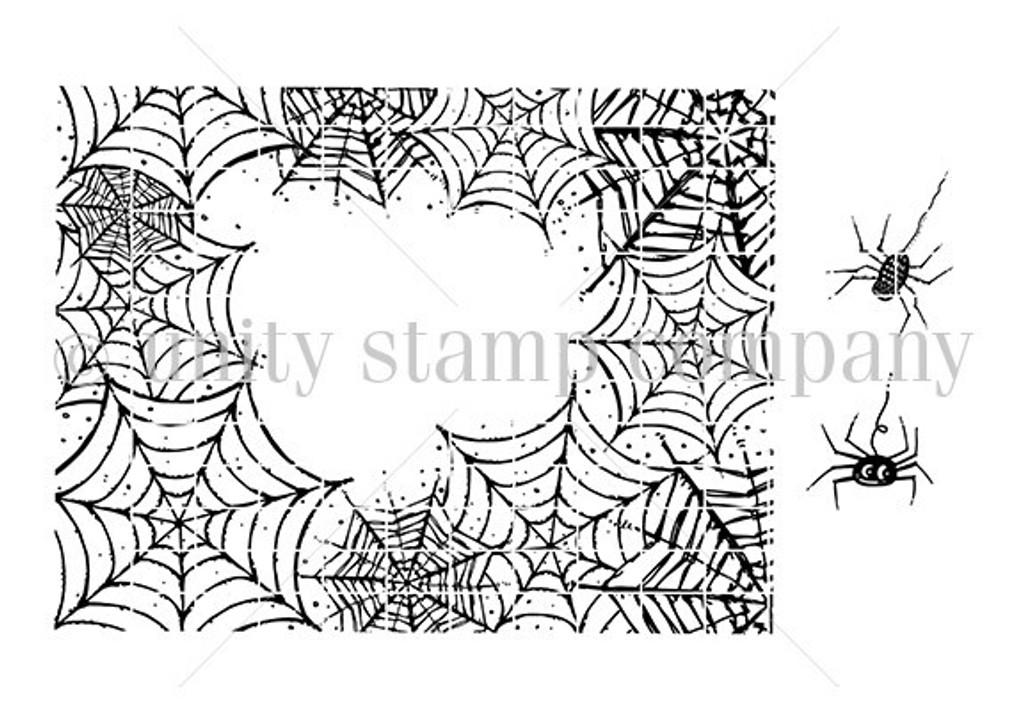 Spiderwebs Background rubber stamp