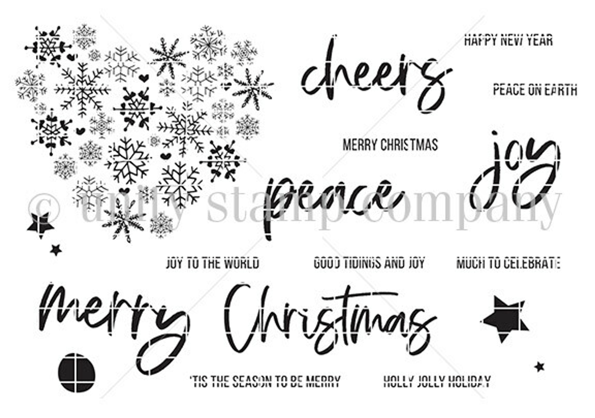 Heart of Christmas october 2020 sentiment kit   Unity Stamp Company