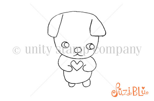 Loved Pets:Finn Heart-Exclusive Stamp by Suzi Blu