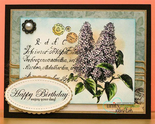 Lilacs & Birthdays {floral collage}