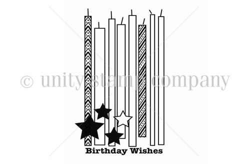 Candles, Stars & Birthday Wishes