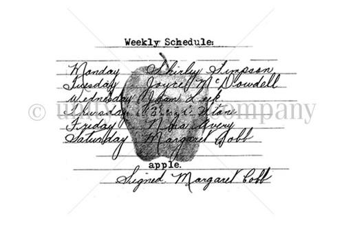 Weekly Schedule Vintage Apple