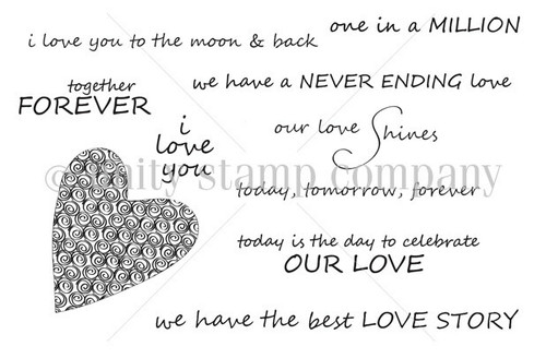 The Best LOVE STORY {march 2013 sentiment kit}