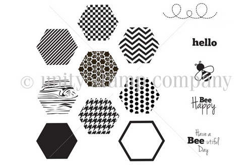 Bee Happy Hexagons