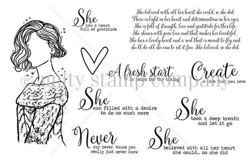 She Never Says Never {June 2017 Sentiment Kit}