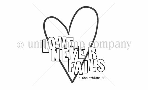 Love Never Fails {itty bitty}