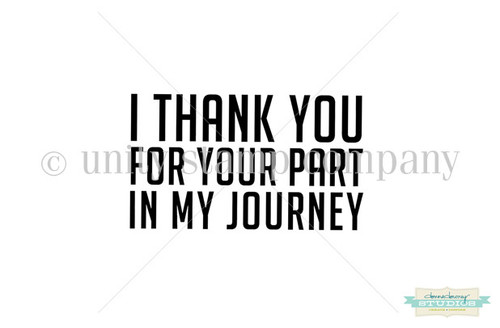 Your Part, My Journey