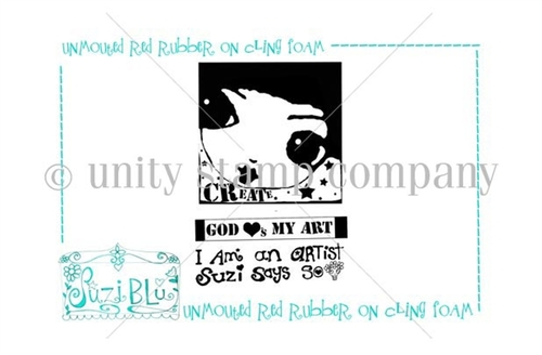 I am an Artist-Exclusive Stamp by Suzi Blu