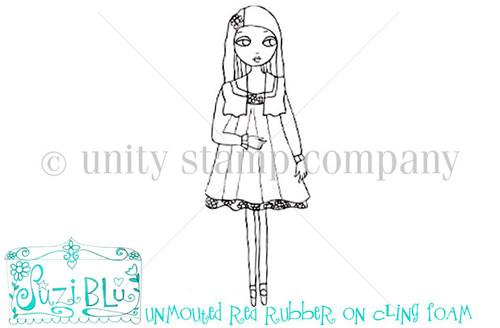 Pretty Girl-Exclusive Stamp by Suzi Blu