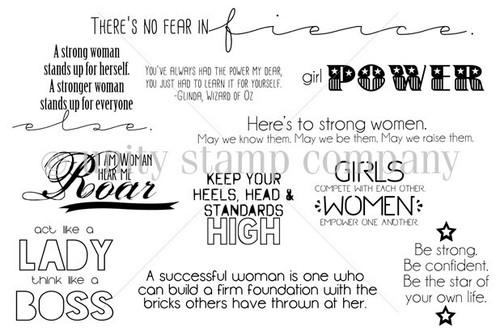I am Woman {december 2013 sentiment kit}