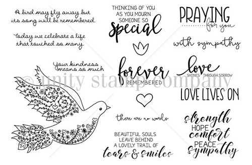 Mourning Dove {march 2018 sentiment kit}