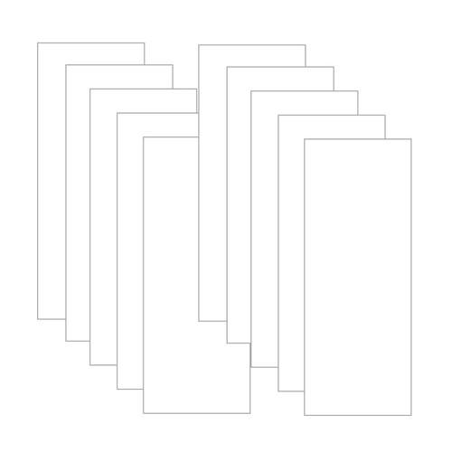 Tall Cut Card Stock- White