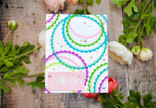 Circle Scalloped {border stamps}