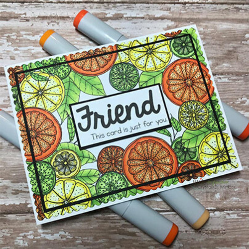 Citrus Medley {border backgrounds}