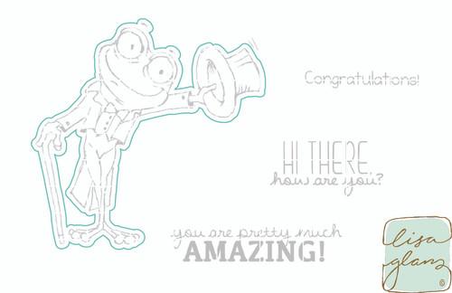 Salutation Toad - Digital Cut File