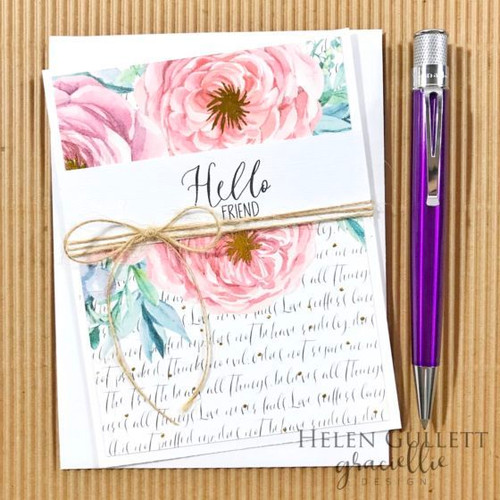 Pink & Blue Watercolored {Paper Pack}